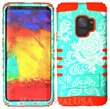 for Samsung Galaxy S9 & Plus KoolKase Hybrid Silicone Cover Case Flower Rose 35