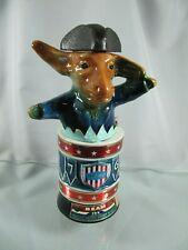 1976 Jim Beam Political Liquor Decanter / Bottle Democrat Donkey on Drum