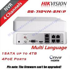 Hikvision DS-7104N-SN/P 4CH PoE NVR  Full HD 1080P CCTV Network Video Recorder