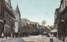 STRANRAER - GEORGE ST & TOWN HALL CROWD HORSE & CART Wigtownshire 1907 .