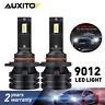 2X AUXITO 9012 HIR2 LED Headlight Kit Bulbs High Low Beam 6000K 20000LM 100W M2