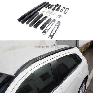 2010-2020 For Mitsubishi Outlander Sport RVR Black Side Bars Rails Roof Rack Kit