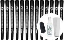 Avon Chamois Black Jumbo Golf Grips - Set of 13 w/ Grip Kit - New