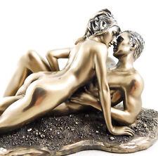 Nude Lovers Entwined Figurine Statue Erotic Naked Figure Bronze Wedding Ornament