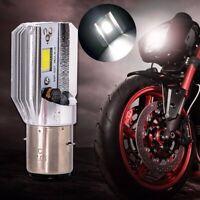 Phare Led 1200 Lumens Blanc H6 Ba20d Cob 12w Ampoule Led Pour Moto Phares V P7G2