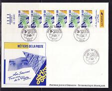 grande enveloppe 1er jour  journée du timbre  bande carnet   ; 1990