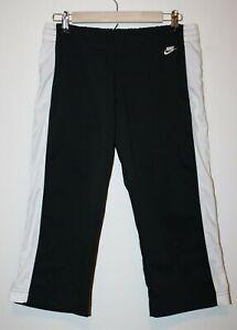 """Nike Women's SMALL FitDry Black Track Workout Capri Gym Pants 30W""""-34W""""  20L"""