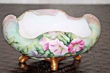 Estate! Gorgeous, antique, large Bauer Rosenthal bowl. Petunias.