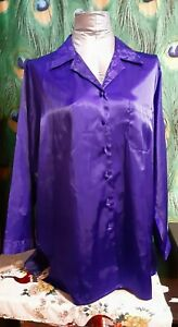 Secert Treasures Women's M Sleep Top, Reflects Blue/Purple. A-1