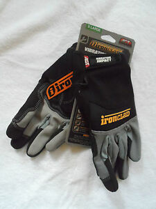 Ironclad Vibration Impact Work Gloves Sizes M to XL Hand Protection