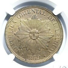 Uruguay (struck at the Heaton mint, Birmingham, England), copper 4 centesimos
