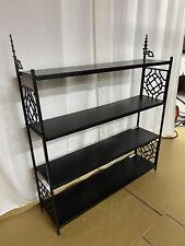 Vintage Frame Tier Mid Century Metal ( BLACK ) Shelf Bookshelf Industrial Modern