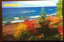 Vintage Postcard Michigan Glorious Shoreline In Automn