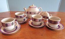 Larger Miniature  Tea set cup saucer tea pot sugar bowl flowers childs/dolls