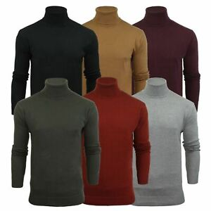 Mens Jumper Brave Soul Roll Turtle Neck Cotton Pull Over Sweater