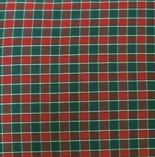 Checks Red Green Xmas Woven Fabric Small for Table Cloth Curtain Blind Cushion