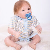 Lovely Dummy Magnetic Pacifier for Reborn Newborn Baby Doll Supplies Blue