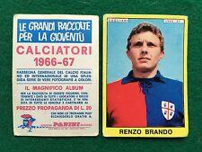 CALCIATORI 1966/67 66/1967 CAGLIARI Renzo BRANDO Figurina Sticker Panini (NEW)