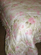 Eileen West Bella Rose Queen Comforter & 2 Shams Vintage Rare