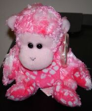 Ty Beanie Baby ~ SUNSET the Pink Monkey ~ MINT with MINT TAGS ~ RETIRED