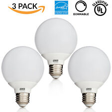 Sunco 3 PACK 6W Dimmable G25 LED Bulb Vanity Light Bulb 4000K Cool White E26