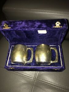 2 Silver Plated Cups In Nice Solid Case