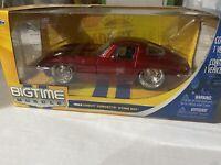 Jada BigTime Muscle 1/24 Diecast 1963 Chevy Corvette Stingray  Red NIB sealed