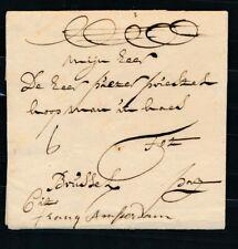 EO BRIEF ALKMAAR-BRUSSEL 18 JULY 1733, GESCHREVEN FRANQ AMSTERDAM EN CITO, ZL874
