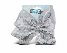 Zoo Beast Signature Collection - Giant Sparkly Silver Sequin Hair Bow on...