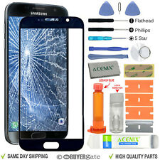 Samsung Galaxy S7 Replacement Screen Front Glass Outer lens Repair Kit BLACK