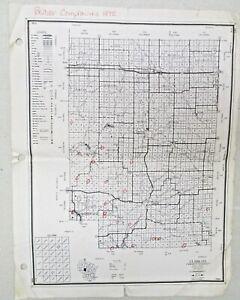 Vtg 1972 Beaver Complaints Chart Map Wisconsin Clark Jackson County Taylor Wood