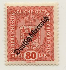 Austria 1918-19 Early Issue Fine Mint Hinged 80h. Optd 220897