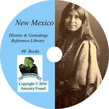 NEW MEXICO - History & Genealogy -80 Books on DVD - Ancestors, County, CD, NM