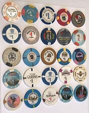 Lot of 20 Las Vegas Nevada Vintage casino chips