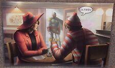 Boba Fett Finds Waldo & Carmen Sandiego Art Print 11 x 17 In Hard Plastic Sleeve