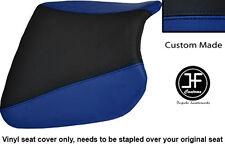 R BLUE BLACK VINYL CUSTOM FITS KAWASAKI NINJA ZX9 R 94-97 FRONT SEAT COVER ONLY