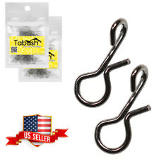 100 pcs No-Knot Snaps Fly Fishing Quick Change Connect for Flies Hook & Lures