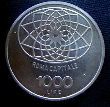 1970 ITALY  silver coin 1000 Lire UNC Roma capitale Condordia HIGH QUALITY