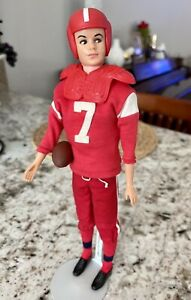 Vintage Unmarked Barbie Ken Clone Doll 1960's In #799 Touchdown + Clone Outfit!