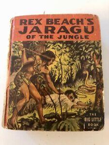 Vintage Rex Beach's Jaragu Of The Jungle Big Little Book #1424 1937