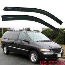 2x Sun Rain Wind Guard Vent Shade Deflector Window Visor For 96-07 Dodge Caravan