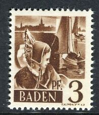 GERMANY ALLIED OCC BADEN;   1947 early pictorial Mint MNH unmounted 3pf.