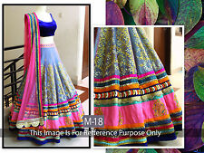 S Bollywood Designer Latest Choli Lehenga Traditional Bridal Partywear M18 Look