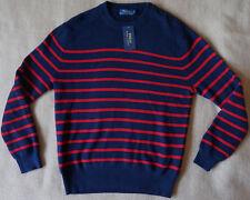 Polo Ralph Lauren Pullover navy rot LS Stripe CN Marine Style 1A-Zustand Bilder!
