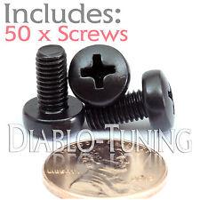 M5 x 10mm - Qty 50 - Phillips Pan Head Machine Screws - DIN 7985 A - Black Steel