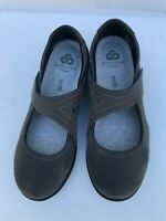 Clarks Cloudsteppers Sillian Bella Gray Mary Janes Flats Womens Size 7 M EU 37.5