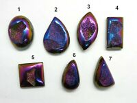 Titanium Druzy Gemstone Cabochon Ring Pendant Bracelet Stone