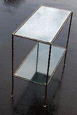 1950/70' Bout de Canapé en Bronze Modèle Bambou Maison Bagués