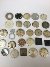 Lot Vintage Watch Dial Faces Bulova Elgin Rado Timex