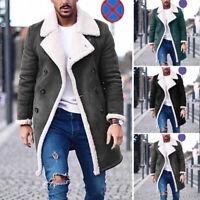 Winter Mens Warm Jacket Coat Fur Parka Fleece Parkas Thick Overcoat Top Overcoat